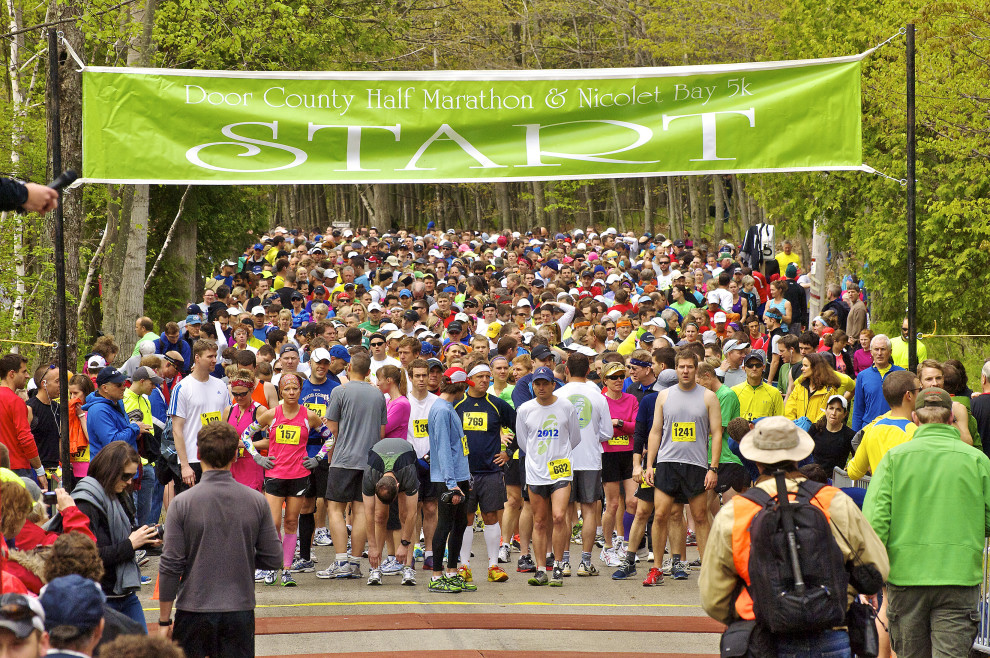 The Starting Line. Nerves And Excitement Collide At The Starting Line  Flanked By The Trees Of The Park! Photo By Len Villano.